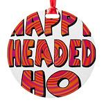 nappyheadedhohypnoticblk Round Ornament