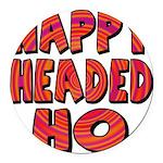 nappyheadedhohypnoticblk Round Car Magnet
