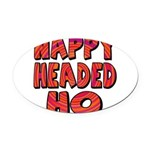 nappyheadedhohypnoticblk Oval Car Magnet