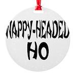 nappyheadedhofrenchblk Round Ornament