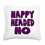 nappyheadedhopurpleblk Square Canvas Pillow