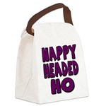 nappyheadedhopurpleblk Canvas Lunch Bag
