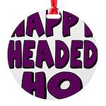nappyheadedhopurpleblk Round Ornament
