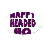 nappyheadedhopurpleblk Oval Car Magnet