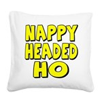 nappyheadedhoyellowblk Square Canvas Pillow