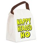 nappyheadedhoyellowblk Canvas Lunch Bag