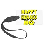 nappyheadedhoyellowblk Large Luggage Tag