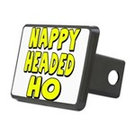 nappyheadedhoyellowblk Rectangular Hitch Cover