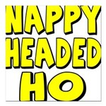 nappyheadedhoyellowblk Square Car Magnet 3