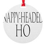 nappyheadedhotrajanblk Round Ornament