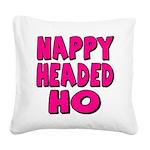 nappyheadedhopinkblk Square Canvas Pillow