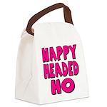 nappyheadedhopinkblk Canvas Lunch Bag