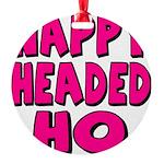 nappyheadedhopinkblk Round Ornament