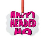 nappyheadedhopinkblk Picture Ornament