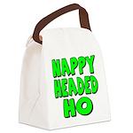 nappyheadedhogreenblk Canvas Lunch Bag
