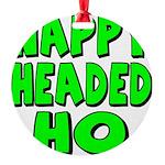 nappyheadedhogreenblk Round Ornament