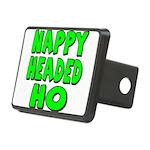 nappyheadedhogreenblk Rectangular Hitch Cover