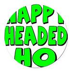 nappyheadedhogreenblk Round Car Magnet