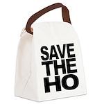 3-savethehoblk Canvas Lunch Bag
