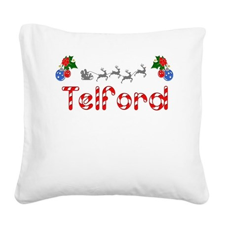 Telford, Christmas Square Canvas Pillow