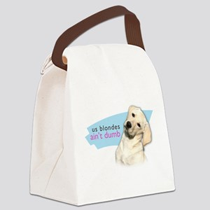 Dumb Blonde Canvas Lunch Bag