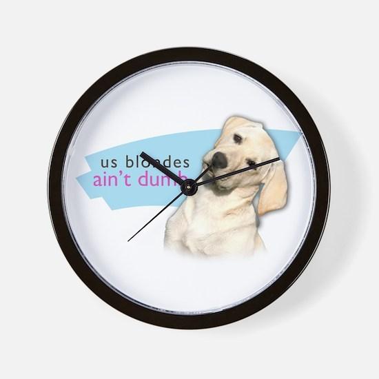 Dumb Blonde Wall Clock