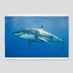 Great White Shark 5'x7'Area Rug