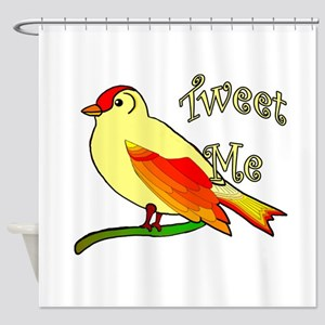 tweet me Shower Curtain