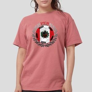 Peru Soccer Womens Comfort Colors Shirt