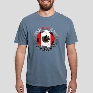 Peru Soccer Mens Comfort Colors Shirt