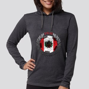 Peru Soccer Womens Hooded Shirt
