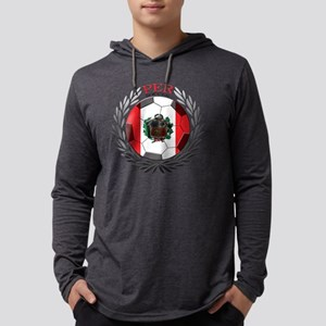 Peru Soccer Mens Hooded Shirt