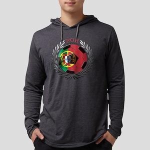 Portugal Soccer Mens Hooded Shirt