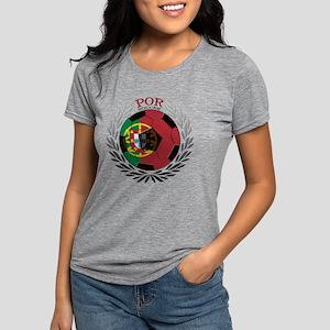 Portugal Soccer Womens Tri-blend T-Shirt