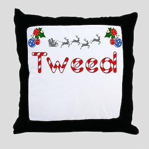 Tweed, Christmas Throw Pillow