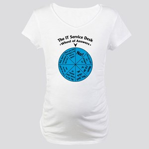 IT Wheel of Answers Maternity T-Shirt