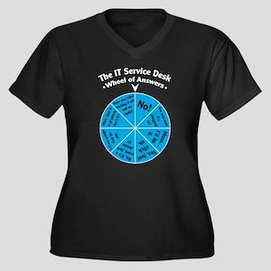 IT Wheel of Answers. Women's Plus Size V-Neck Dark