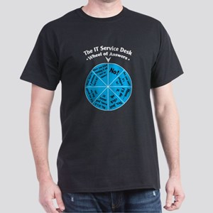 IT Wheel of Answers. Dark T-Shirt