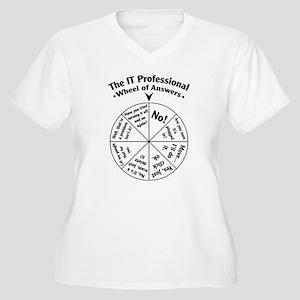IT Professional Wheel of Answers Women's Plus Size