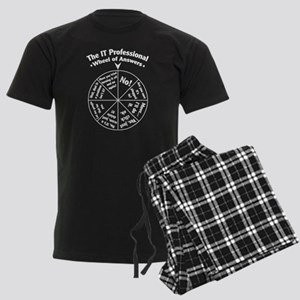 IT Professional Wheel of Answers Men's Dark Pajama