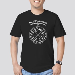 IT Professional Wheel of Answers Men's Fitted T-Sh