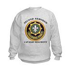SECOND ARMORED CAVALRY REGIMENT Kids Sweatshirt