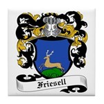 Friesell Coat of Arms Tile Coaster