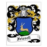 Friesell Coat of Arms Small Poster
