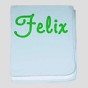 Felix Glitter Gel baby blanket