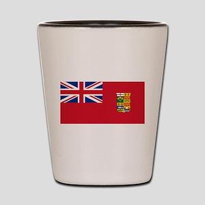 Flag of Canada 1868-1921 Shot Glass