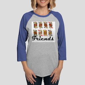 friends1 Womens Baseball Tee