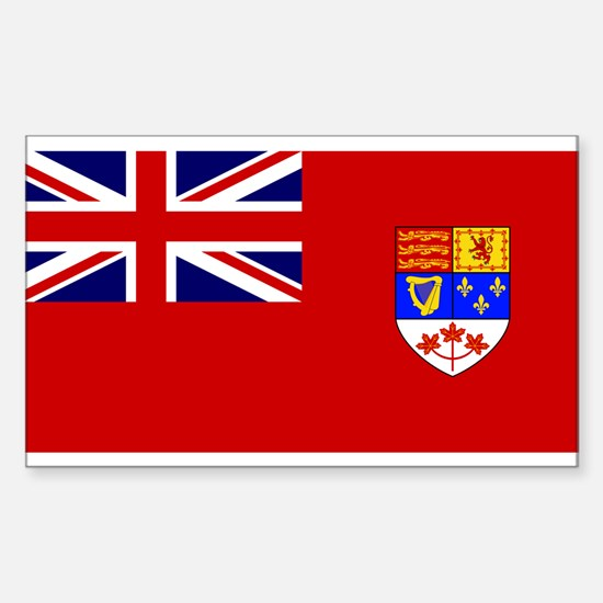 Flag of Canada 1957 - 1965 Sticker (Rectangle)