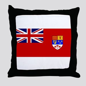 Flag of Canada 1957 - 1965 Throw Pillow
