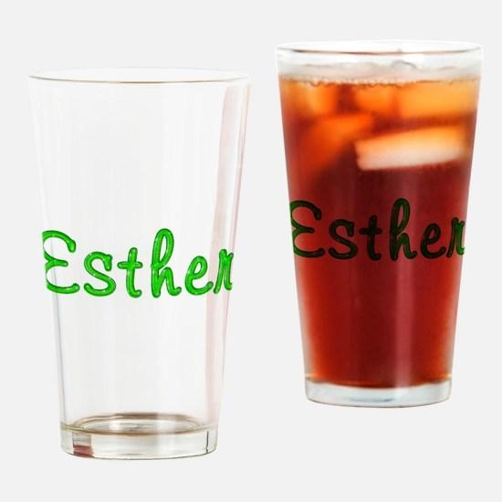 Esther Glitter Gel Drinking Glass